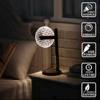 Modern Living Table Lamp Decor lamp wood led bulb dog light Acrylic 3D lamp Illusion Light Led Micro USB Night Light IY804005