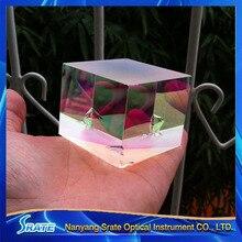 Science Toys 6X6X5cm Defective Lens Splitter Prism Cross Dichroic X-Cube Prism RGB Combiner