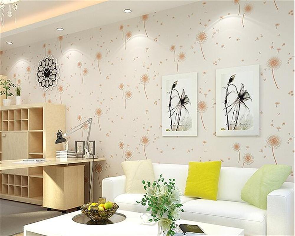 beibehang Dandelion bedroom children bedroom fresh pastoral style 3d ...