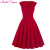Summer dress 2016 bata sexy cuello en v negro rojo verde de las mujeres dress túnica ocasional 1950 s 60 s retro vintage dress rockabilly swing grande