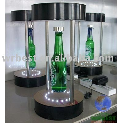 magnetic levitation suspension bottle display with LED with bottle