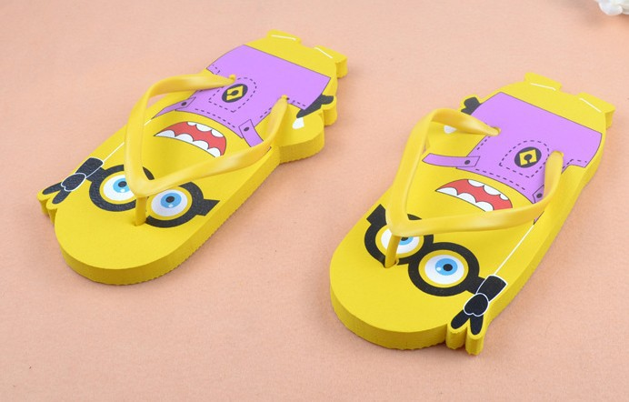 Free Shipping Flip Flop Minions Flip Flop Slippers Causual -6002