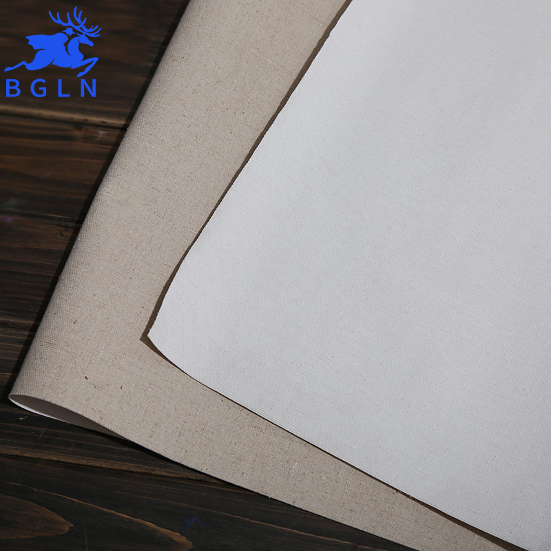 BGLN 5m Linen Blend Primed Blank Canvas For Painting High Quality Layer Oil Painting Canvas 5m One Roll ,28/38/48/58 Width