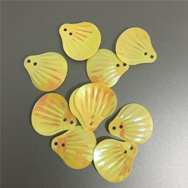300 stücke 18*20mm gelb ab große shell pvc lose pailletten für ...