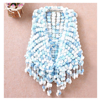 Free Shipping Fashion Autumn And Winter Handmade Crochet Ball All Match Knitted Cape Scarf Oversized Thick