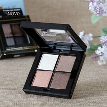 Фотография 4 Color Eye shadow Pigments Palette Eye Makup Eye Shadow Super Stage Fit Palette Cosmetic Makeup Set  Smoky makeup