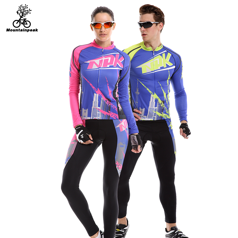 Mountainpeak 2017 Camisa Primavera/verão Ternos para Homens e Mulheres Calças de Equitação Calças de Ciclismo Manga Longa Ciclismo Desgaste Respirável Sol