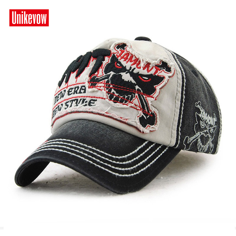 UNIKEVOW Europe style   baseball     cap   100% cotton Skull patch   Cap   For Men And Women High quality Sports Leisure Hats Hip Hop Hats