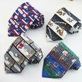 Мода роман печатные галстуки Рождество и мультфильм шаблон дизайна галстук мужчины любовь Одежда аксессуары галстук