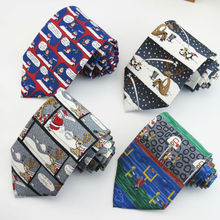 Fashion novel printed ties Christmas and cartoon pattern design necktie men love Clothing accessories tie