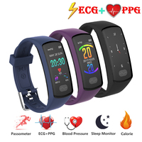 Smart Band Fitness Bracelet Heart Rate Monitor Tracker Smart Wristband ECG/PPG Blood Pressure Smart Watch for IOS Android Phone