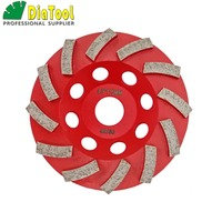 DIATOOL 4.5/115MM Segmented Turbo Diamond Grinding Cup Wheel For Concrete And Masonry Material, Diamond Grinding Discs