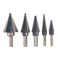 DIU High Quality 5Pcs Set HSS Cobalt Multiple Hole 50 Sizes Step Drill High Speed Steel