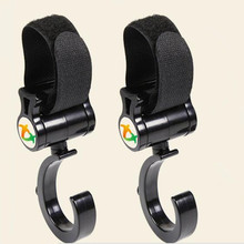 2 PCS/LOT Baby Stroller Accessories Hook Multifunction Simple Black High Quality Plastic