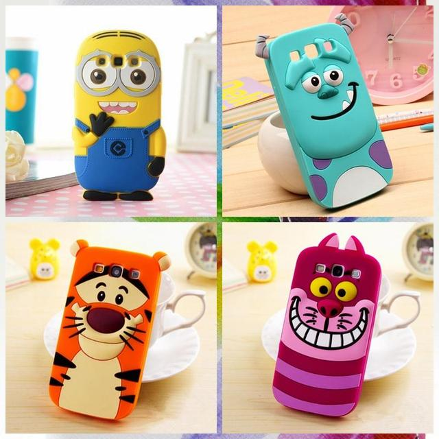 b23a9543953 Cover Cartoon Cat Back Alice Minions Cases Lovely Sulley For Samsung Galaxy  S3 Neo S4 S5 S6 Edge Core Win GT I8550 I9301 Case