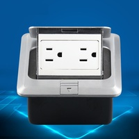 US Standard 2 Position 120 Type Grounding Socket United States Floor Socket 15A 125V Household Improvement