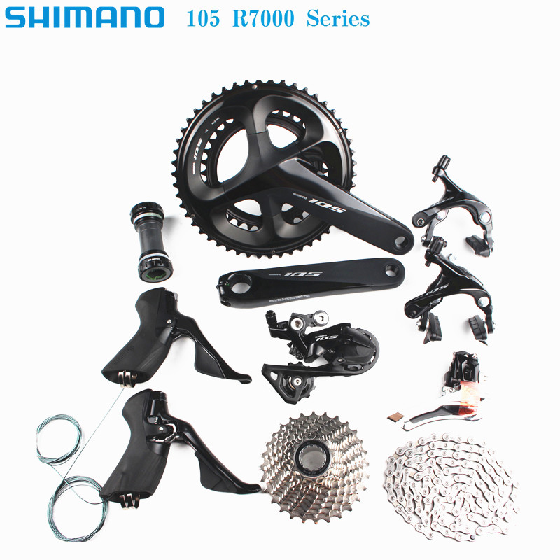 SHIMANO 105 R7000 2x11 speed 170/172.5/175mm 50-34T 52-36T 53-39T road bike bicycle kit groupset upgrade from 5800 цена 2017