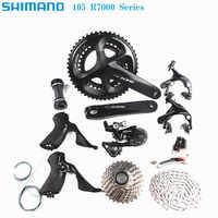 SHIMANO 105 R7000 2x11 velocidad 170/172 5/175mm 50-34T 52-36T 53-39T bicicleta de carretera kit de bicicleta grupo de actualización de 5800
