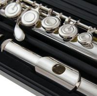 Французская Кнопка флейта 222 музыкальный инструмент Посеребренная флейта 16 закрытых отверстий Tune and E клавишная флейта