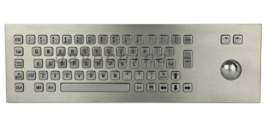 Kovová PC Klávesnice na klávesnici Kabelová klávesnice z nerezové oceli odolná proti vandalům pro samoobslužný kiosk