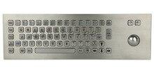 Metal PC Tuş Takımı terminali klavye Vandal proof sağlam panel montaj paslanmaz çelik klavye self servis kiosk için