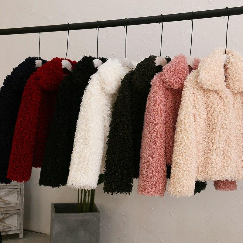 Женская курчавая куртка из искусственного меха ягненка с отложным воротником, меховая куртка из искусственного меха для женщин, зимняя теплая пушистая верхняя одежда, 2019|Куртки из искусственного меха| | АлиЭкспресс