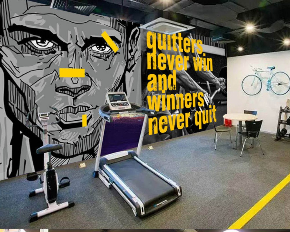 Free Shipping Wallpaper Europe And America Fashion Hand-Painted Sports Room Gym Custom 3D Decorative Photo Wallpaper Mural