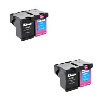 LuoCai Compatible ink cartridges For HP123 For HP 123 XL OfficeJet 3830 3831 3832 3833 3834 4650 4652 4654 4655 printers 123XL