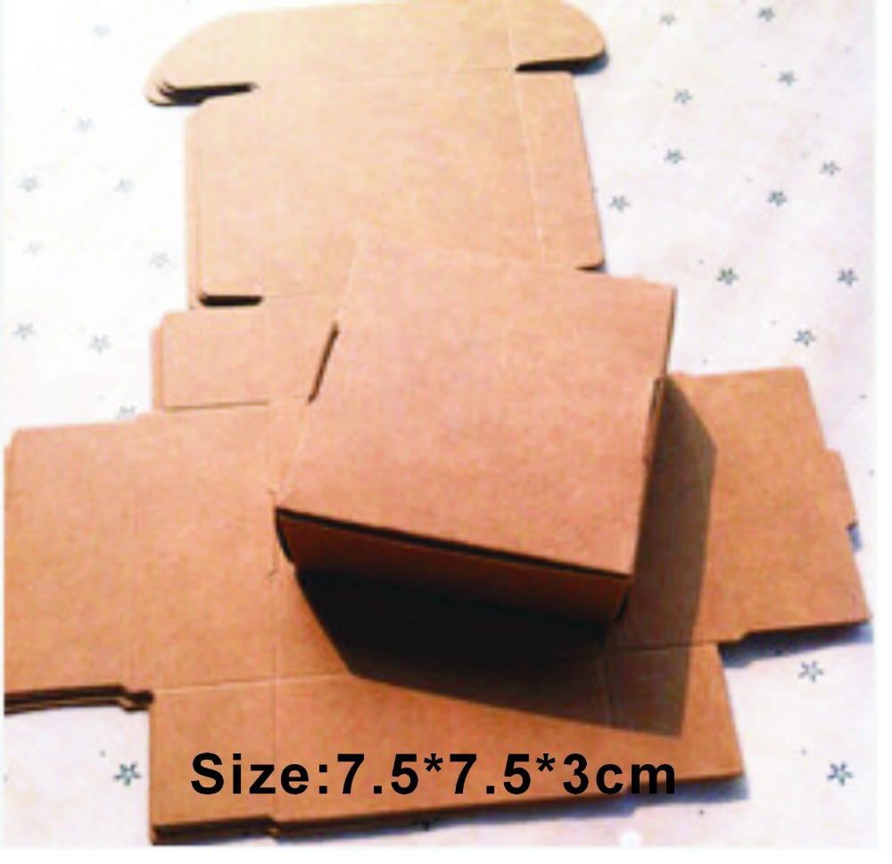 Color printing paper - Wholesale 1000pcs Lot Size 7 5 7 5 3cm Kraft White Black Paper