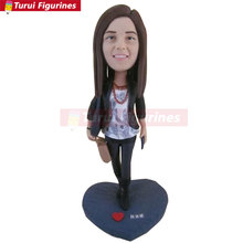 Girlfriend Gift Daughter Wife Mother Custom Bobble Head Clay Figurine Based on Customers Photos Mothers Day gift