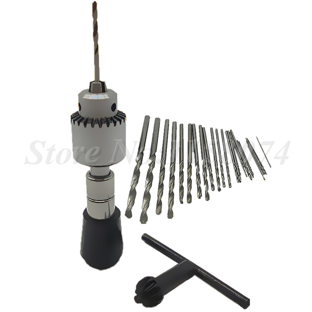25pc Micro Hss Twist Drill Bit + Wood Hand Drill Manual Wire ...