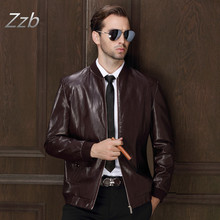 Men's Popular Handsome motorcycle  Leather Jacket Punk New Black Red Leather Jackets Zipper Men Chupas De Cuero Hombre