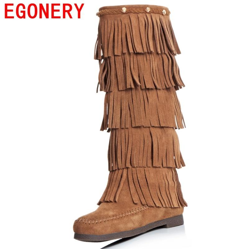 egonery hautes chaussures femmes genou des bottes hautes egonery côté zipper tassel 6a6618
