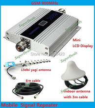 13db yagi LCD display mobile phone mini GSM 900mhz signal repeater repetidor cell phone GSM signal