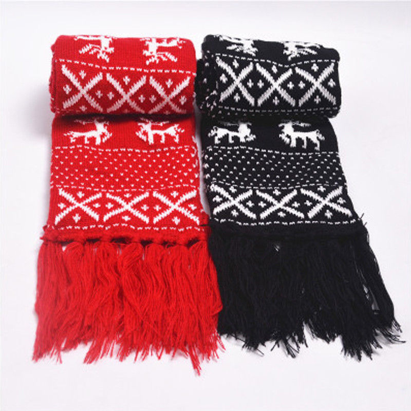 Hirigin Fasion 2017 Christmas Lovers   Scarves   Winter Warm   Scarves   Women Men Knitted   Scarf   Lovers Matching Shawl   Wrap