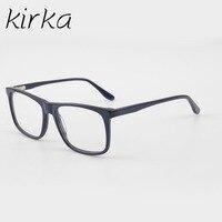 Kirka Classic Type Rectangular 100 Handmade Acetate Fashion Male Eyeglasses Frame Nerd Men Glasses Frame