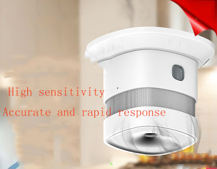 Smoke alarm household independent fire detector smoke sensor fire sensor indoor wireless 3C in Smoke Detector from Security Protection