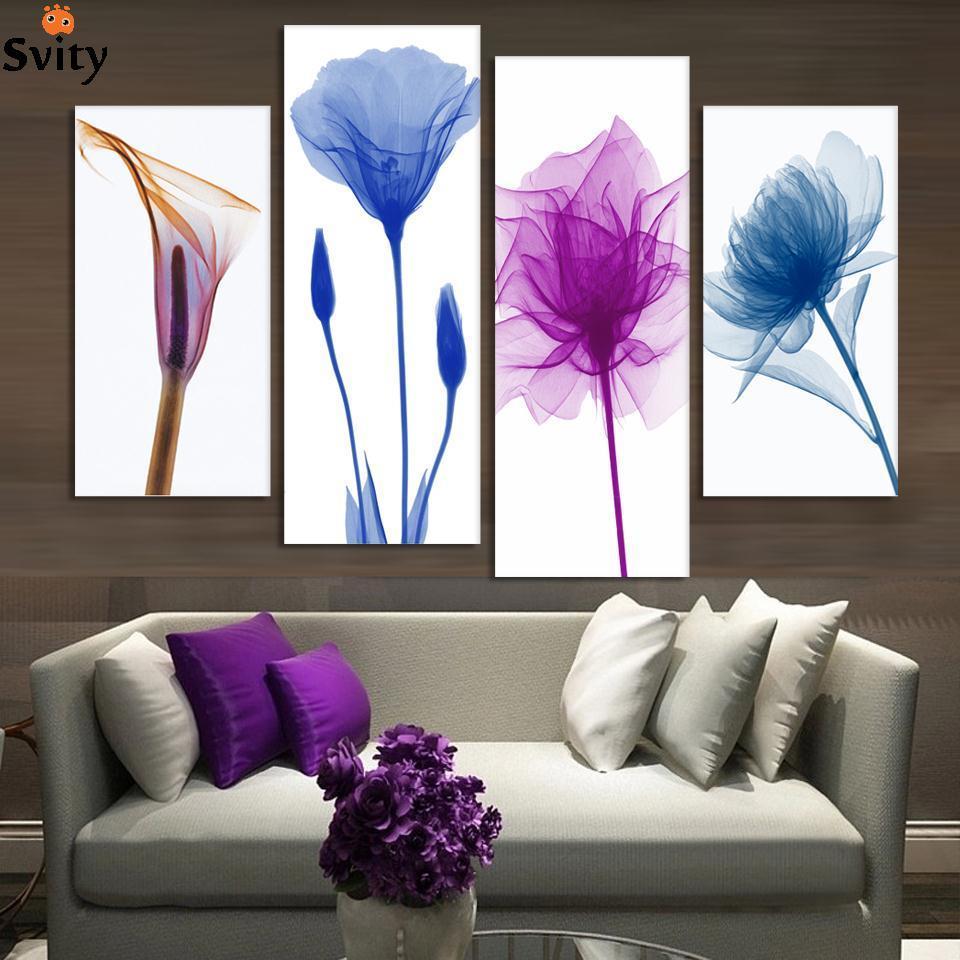 4 unidades envío gratuito barato abstracto moderno pintura de la - Decoración del hogar - foto 1