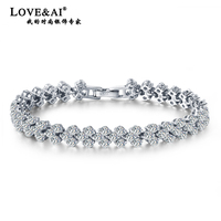 925 pure silver bracelet/ fashion zircon/ perfect bracelet/ bridal accessories