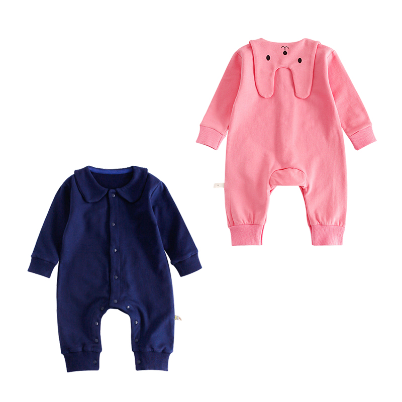 d71684e9e New Brand Solid Baby Rompers Clothing Kids Long Sleeve Back Rabbit  Jumpsuits Girls Boys Cotton Casual Clothes For Infant Newborn Tags: