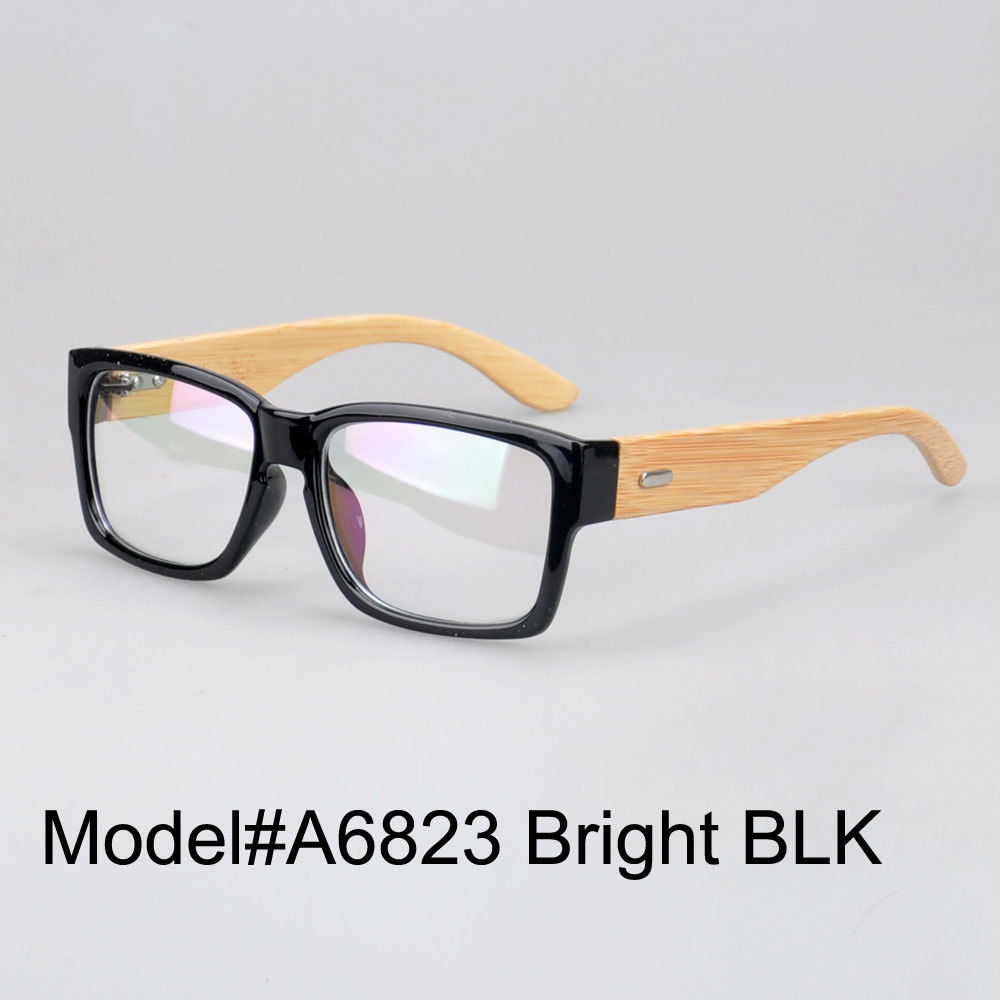 MY DOLI A6823 new arrival fashionable comfortable Plastic frame bamboo temple optical frame eyeglasses spectacles eyewear