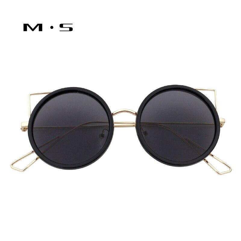 MS 2017 Vintage Sun glasses for Women Square Sunglasses Women Mirrored Glasses Classic Fashion Female Alloy Legs Cat eye UV400