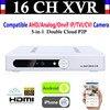 New CCTV 16CH Channel 1080P NVR AHD TVI CVI DVR 1080N 5 In 1 Video Recorder