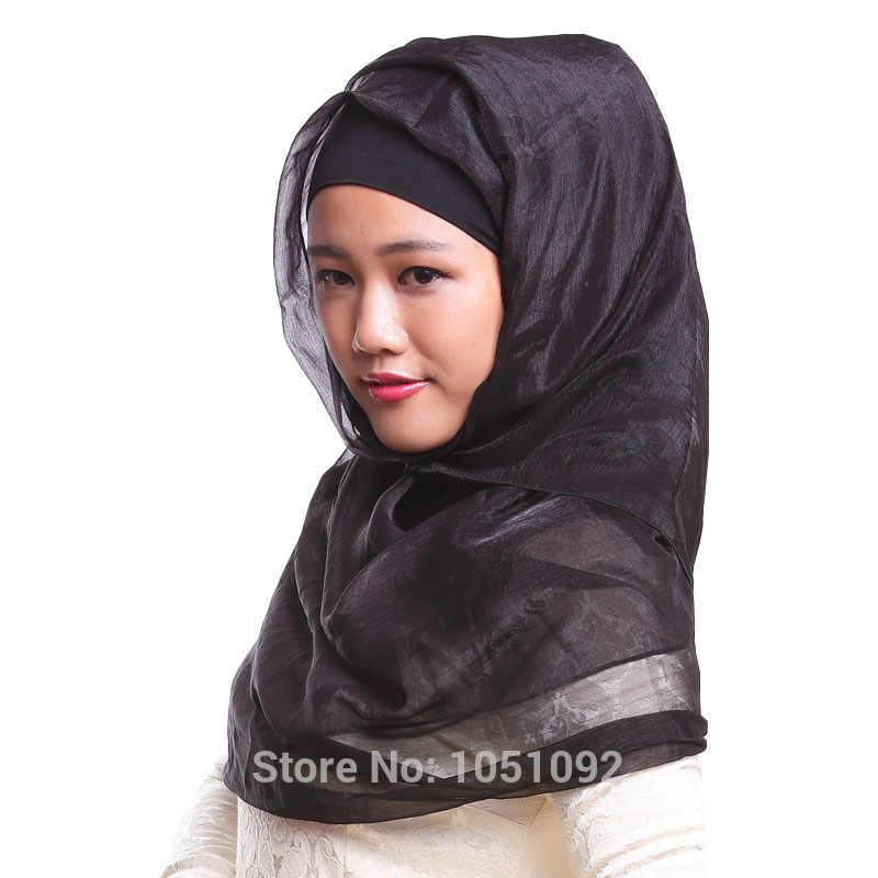 1pc hijab musulmán 180cm bufanda rectangular para mujeres islámicas 75CM * 180CM