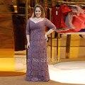 Por Encargo Más El Tamaño de la Madre de la Novia Viste la Longitud Del Piso Vestidos de Fiesta Apliques de Gasa Una Línea de Cremallera Vestido de Noche