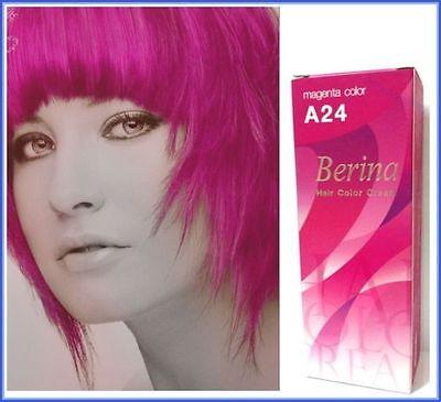 livraison gratuite nouveau a24 berina cheveux crme semi permanent hair dye couleur rose magenta - Coloration Cheveux Magenta