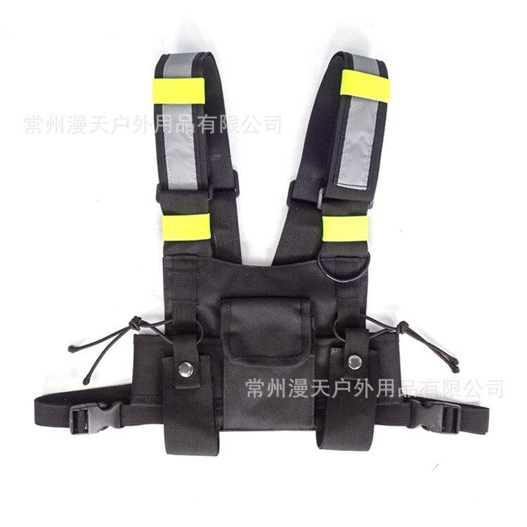 adjustable Black Vest Hip Hop Streetwear Functional Tactical Harness Chest Rig Kanye West Waist Pack Chest Bag Fashion Nylon c5