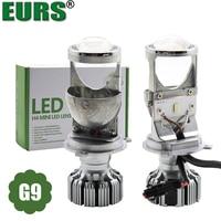 EURS New design 2PCS LED Car Headlights H4 mini led Lens G9 Car Led Lamp Lighting Replacement Bulbs Auto headlamp hi/lo beam