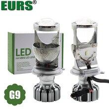 EURS новый дизайн 2 шт. светодио дный фары автомобиля H4 мини светодио дный объектив G9 автомобиля светодио дный лампы освещения замена лампы авто фары Здравствуйте/lo луч