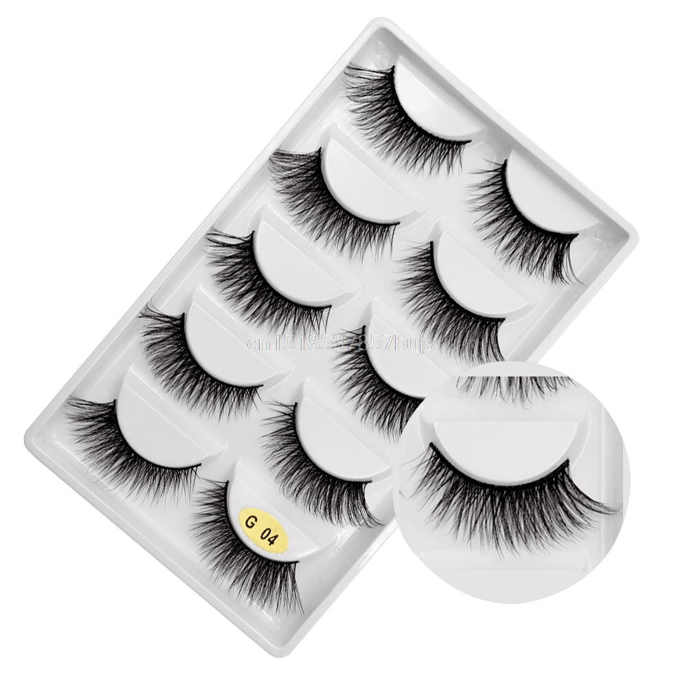 HTB1oHhPXLfsK1RjSszbq6AqBXXaF New 3D 5 Pairs Mink Eyelashes extension make up natural Long false eyelashes fake eye Lashes mink Makeup wholesale Lashes
